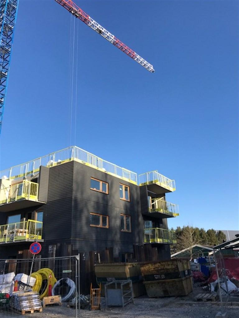 Bild från bygget, 2018-04-15