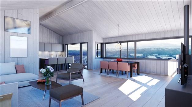 Övervåning lägenhet om 135 m²