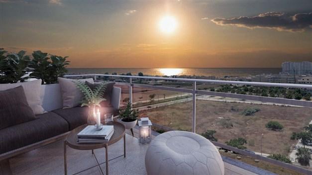 Illustrationsbild - Vacker havsutsikt från en del lägenheter