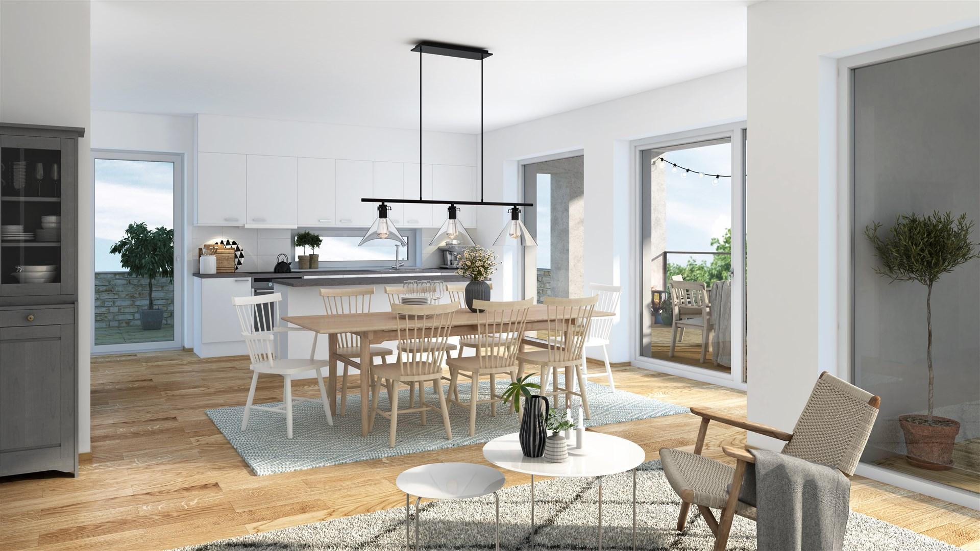 Illustration - vardagsrum/kök