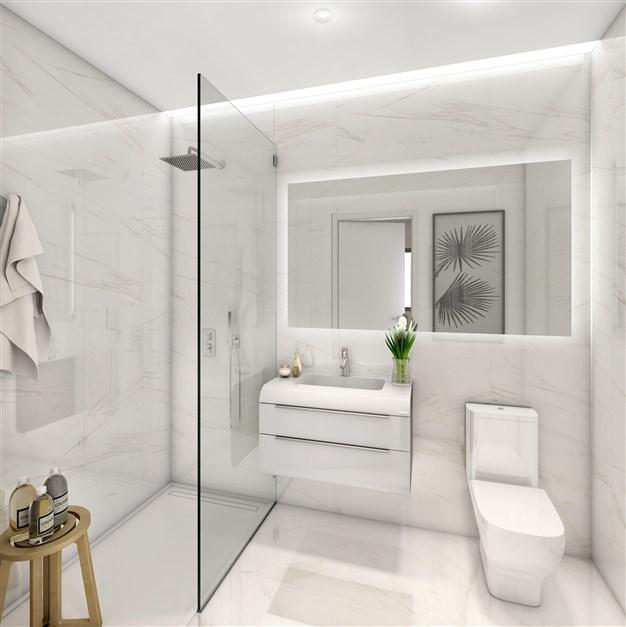 Illustrationsbild - Moderna badrum