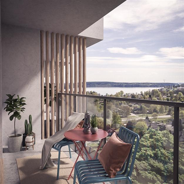 Illustrationsbild från en av balkongerna