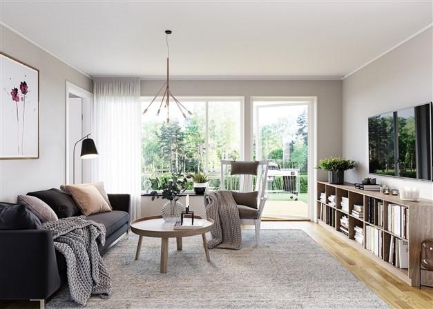 Bilden är en visualisering av vardagsrum och skall ses som inspiration. Avvikelser kan förekomma.