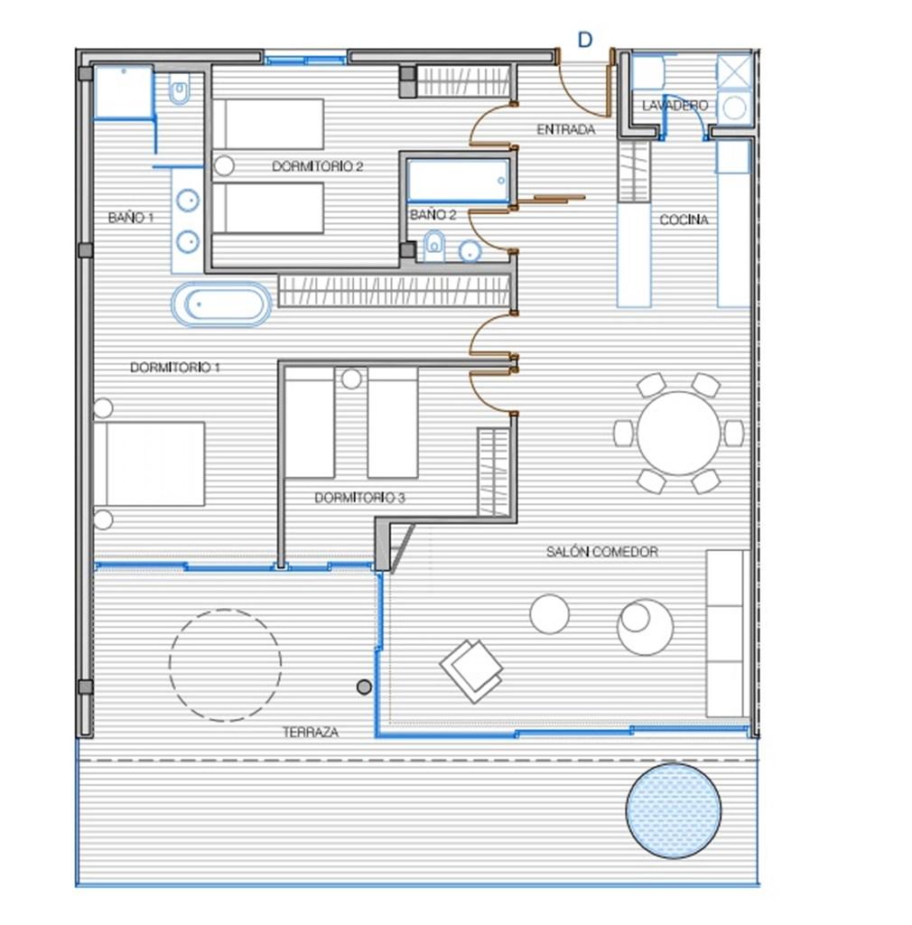 Exempel på planlösning: 3 sovrum