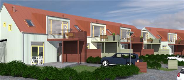 Under 2017 uppförs 8 stycken nya bostadsrätter i radhusutförande på Lärftvägen i Skrea. De kommer att vara fördelade i 2 huskroppar med 4 stycken 2-våningslägenheter vardera.