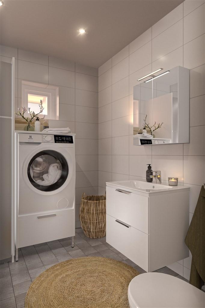 Radhus 1-plan toalett/dusch