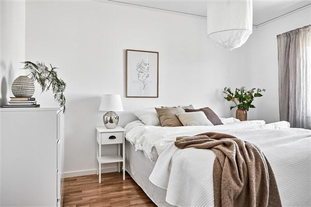 Sovrum i enplansradhus