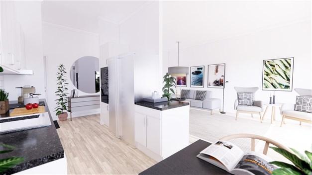 Exempelbild vardagsrum/kök