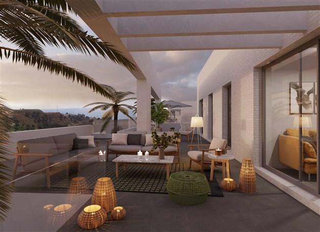 Illustrationsbild - Vissa terrasser med havsutsikt