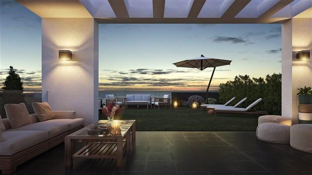 Illustrationsbild - Terrassen kvällstid