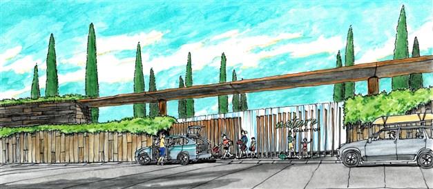 Illustrationsbild - Entrén till bostadsområdet
