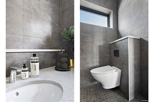 Duschrum på bottenvåningen