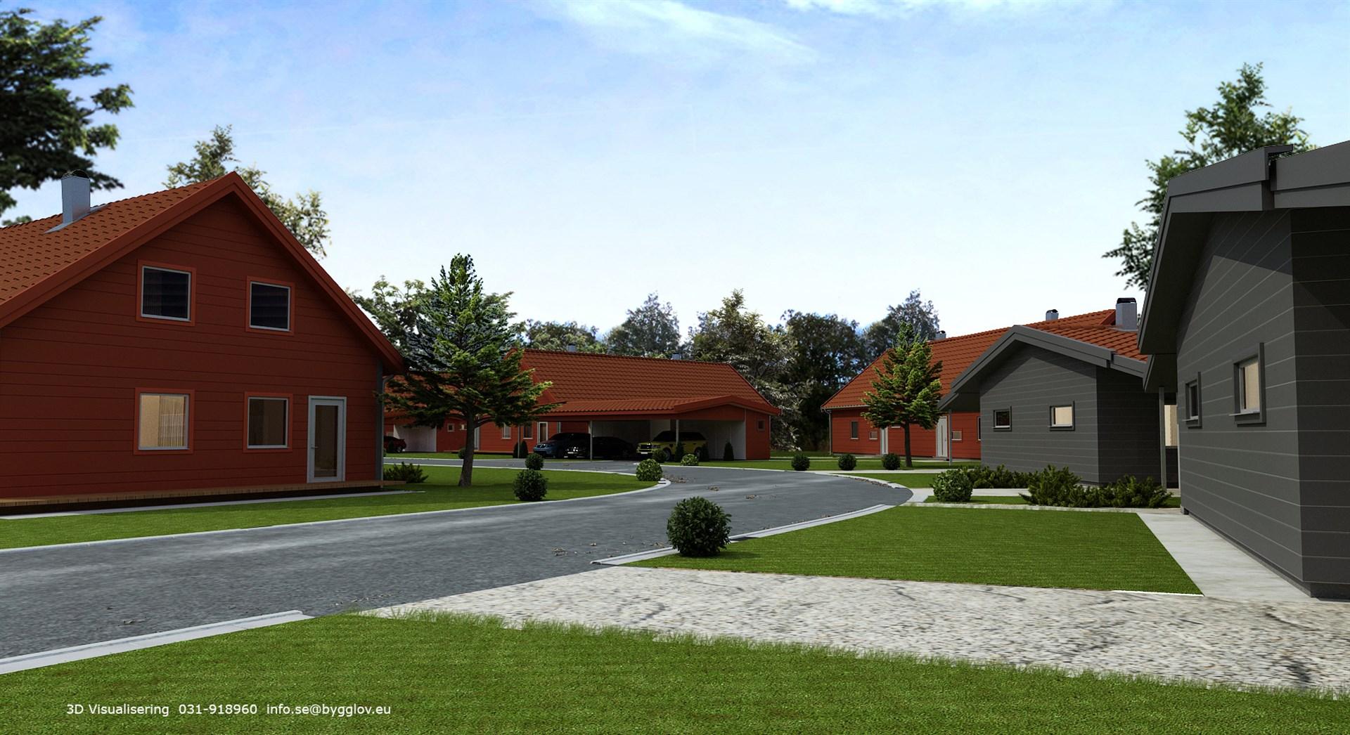 Välkommen till Bingevägen!   OBS! Avvikelser kan förekomma mellan 3D-bilderna på denna sida och verkligheten.