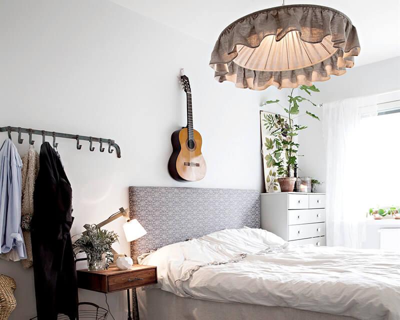 Lampor och belysning i sovrummet